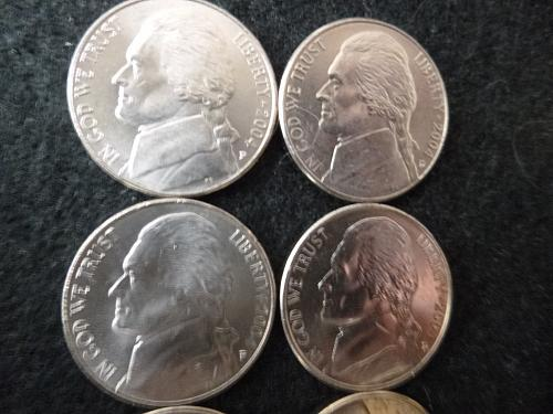 EIGHT Coins - All 8 2004-2005 P&D Jefferson Nickels High Quality Coins From Mint
