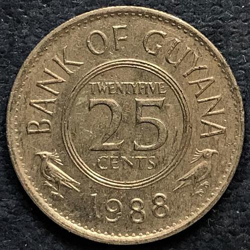 Guyana 1988 = 25 Cents