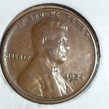 1924-S Very Fine Lincoln Wheat Cent ( # 699 )