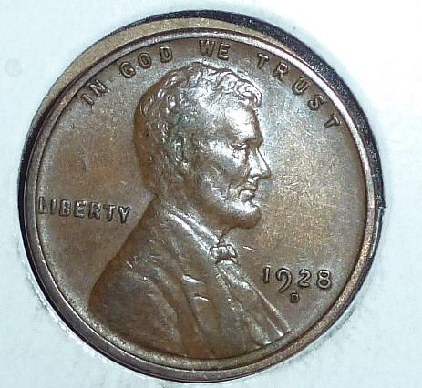1928-D  About Uncirculated Lincoln Wheat Cent  ( 696)