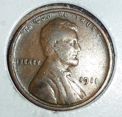 1911-P Very Fine Lincoln Wheat Cent ( # 675)