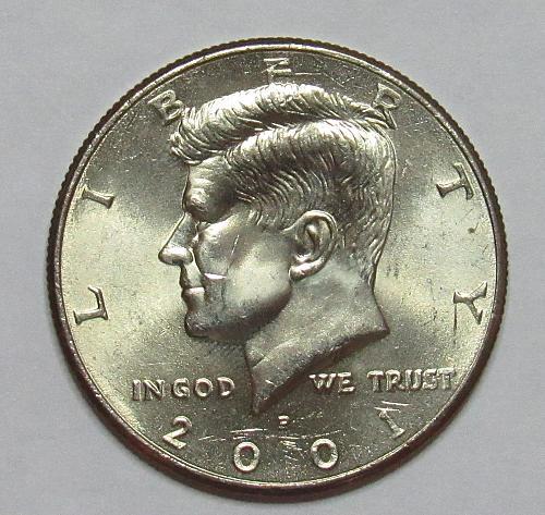 2001 P Kennedy Half Dollar in BU condition