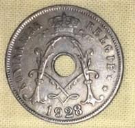 25 CEN- Belgie, 1928 KONINKRIJK
