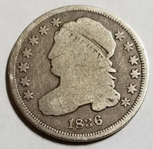 1836 Capped Bust Dime 16cb002