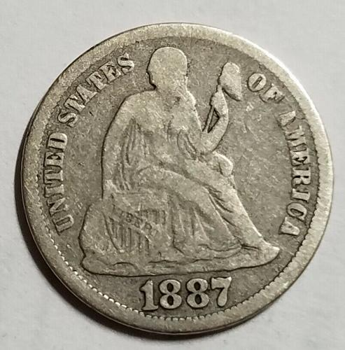 1887 Seated Liberty Dime sd9