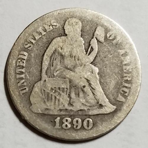 1890 Seated Liberty Dime sd19