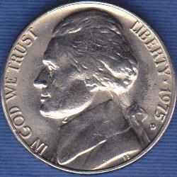 1975 D Jefferson Nickel
