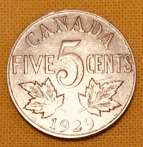5 CENT- CANADA, 1929