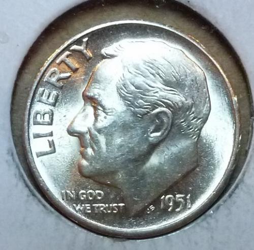 1951-S Gem Brilliant Uncirculated Roosevelt Dime ( 3148 )