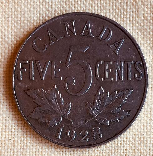 5 CENTS- CANADA, 1928
