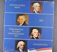 2007 Philadelphia  US Mint Presidential Uncirculated Dollar Set