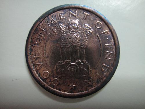 INDIA 1 Pice 1953-B MS-63 (Choice BU) K#1.4