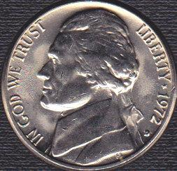 1972 D Jefferson Nickel