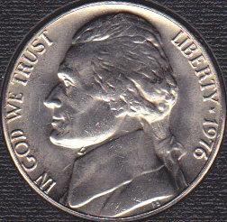 1976 P Jefferson Nickel