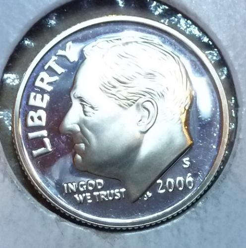 2006-S GEM Brilliant Silver Proof Roosevelt Dime (3744)