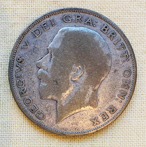 British Half Crown (Silver), George V, 1924