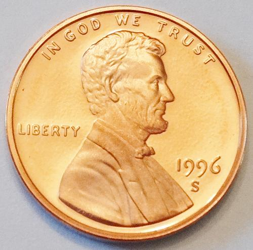 1996 S Lincoln Memorial Penny Proof
