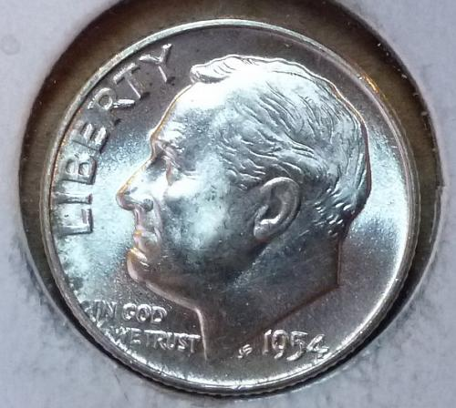 GEM BU MS Quality 1954-D Roosevelt Silver Dime. High Quality (3166 )