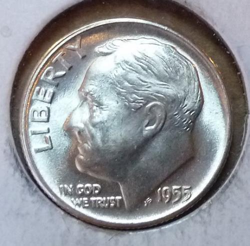 GEM BU MS Quality 1955-D Roosevelt Silver Dime. High Quality (3169 )