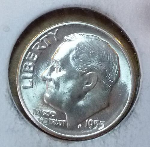 GEM BU MS Quality 1955-S Roosevelt Silver Dime. High Quality (3170 )