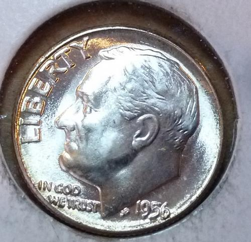 GEM BU MS Quality 1956-P Roosevelt Silver Dime. High Quality (3171 )