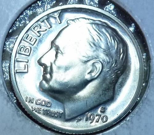1970-S GEM Brilliant Proof Roosevelt Dime (3690)
