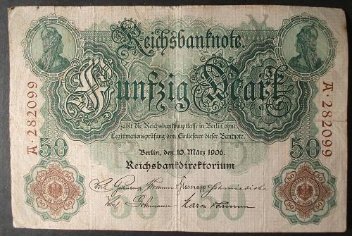 Germany P26a 50 Mark Fine+