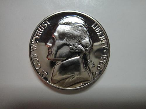 1968-S Proof Jefferson Nickel Proof-66 (GEM+)