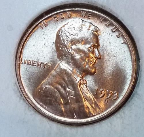 1953-D GEM BU RED Lincoln Wheat Cent. ( 343)