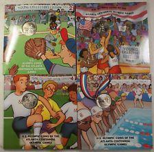 1996 Atlanta Olympics Set of 4 Young Collector Swimming, Soccer, Baseball,Basket