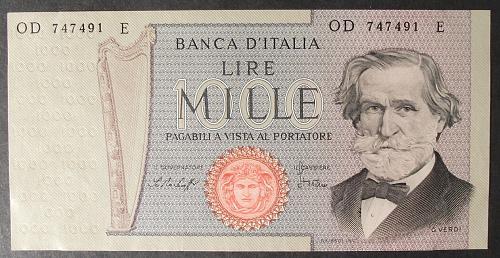 Italy P101f 1000 Lire AU