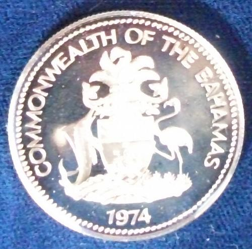 1974 Bahamas 50 Cents Silver Proof