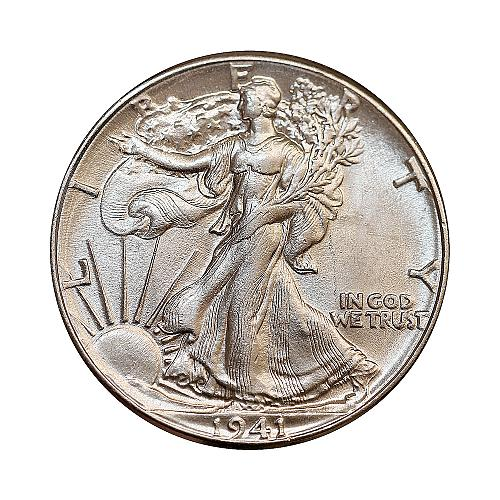 Superb - 1941 P Walking Liberty Half Dollar - Gem BU / MS / UNC - High Grade Coi