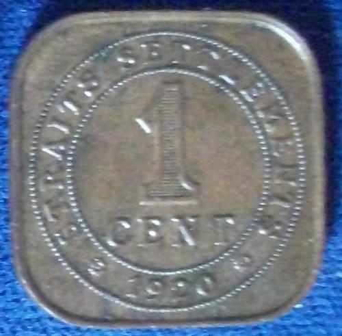 1920 Straits Settlements Cent UNC