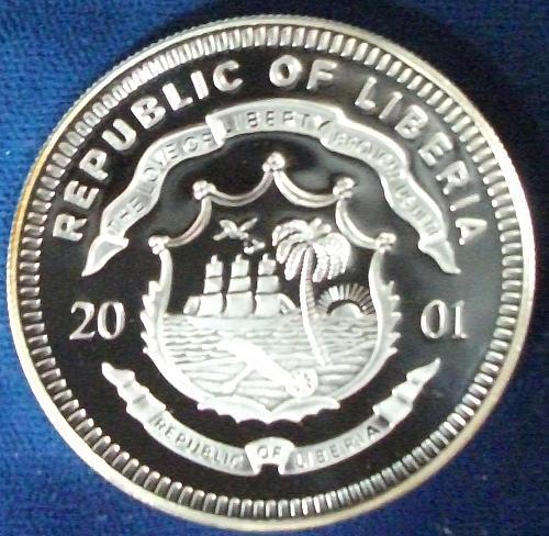 2001 Liberia 20 Dollars Silver Proof Union Pacific 119