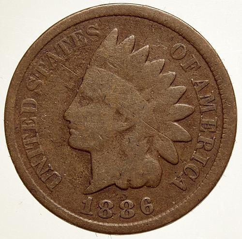 1886 Indian Head Cent #25 Type 2