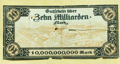 10,000,000,000 German Mark Notgeld, Gutschein uber Zehn Milliarden, 1922-23
