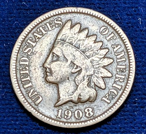 1908S VERY GOOD INDIAN HEAD CENT