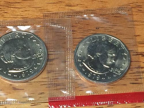 1979 P@D Susan B Anthony Dollar Coins