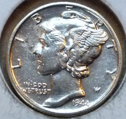 1944-S ABOUT UNCIRCULATED Mercury Dime   ( 628)