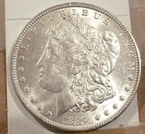 1889-P Gem BU Morgan Silver Dollar (1023 )