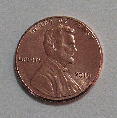 2019 - One Cent - Lincoln Shield Cent