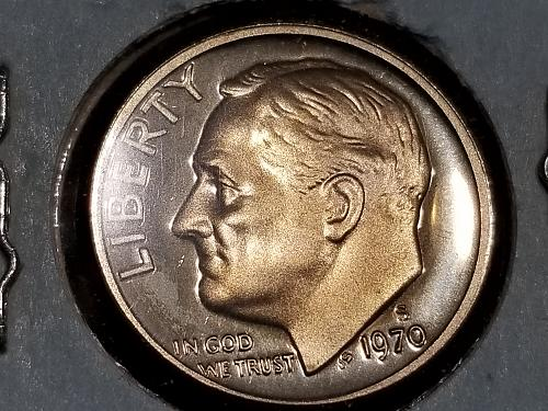 1970 S PROOF Roosevelt Dime