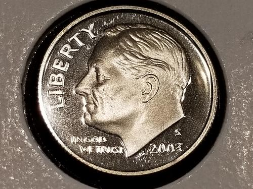 2003 S PROOF Roosevelt Dime
