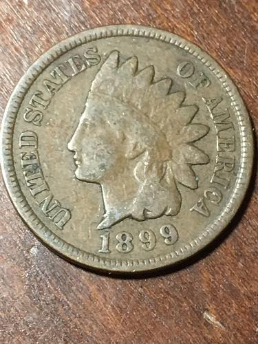 1899 Indian Head Cent Item 0219397