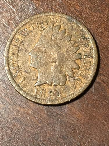 1894 Indian Head Cent Item 0219400