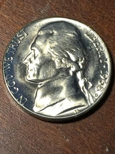 1968 D Jefferson Nickel Item 0219407