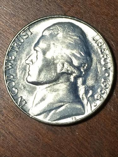 1968 D Jefferson Nickel Item 0219410