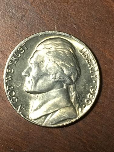 1980 Jefferson Nickel Item 0219414