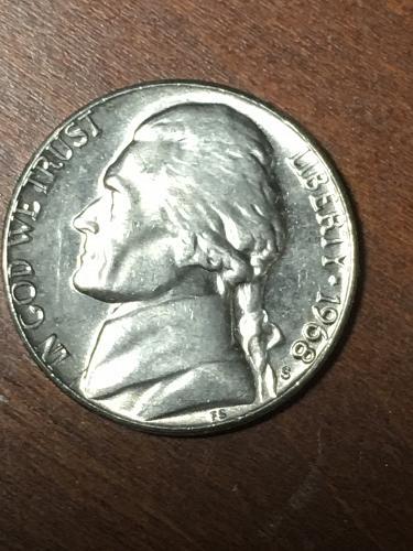 1968 S Jefferson Nickel Item 0219419